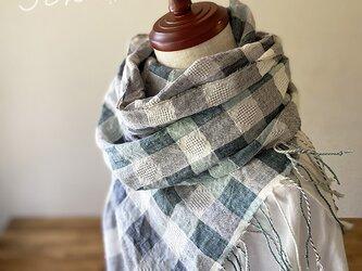 shawl[手織りコットンリネンショール] 木漏れ日の画像