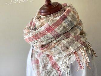 shawl[手織りコットンリネンショール] 陽だまりの画像