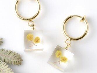 ミモザのイヤリング(無料ギフトラッピング, 誕生日プレゼント, メッセージカード)の画像