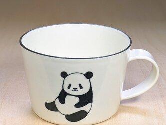 パンダスープカップ(お座りと開脚)の画像