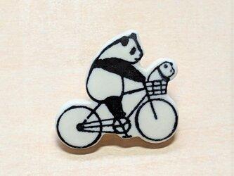 パンダピンバッジ(自転車)の画像