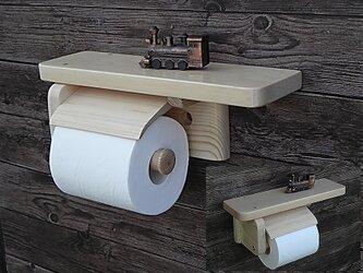 木製トイレットペーパーホルダー Ver.9.1(ナチュラル)の画像