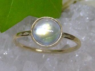 rainbow moon*アンティーク調14kgf ringの画像