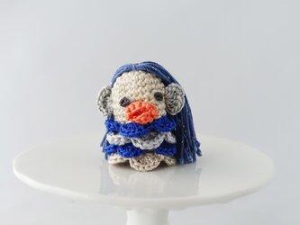 アマビエの指人形(ブルー2)の画像