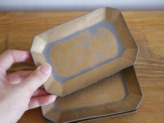 燻金の八角皿の画像