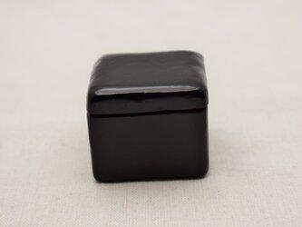 手彫小箱 マホガニー 黒漆赤漆の画像