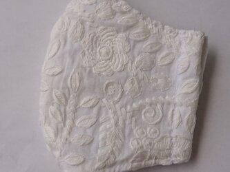 マスク 綿レース大人用Mサイズ 大花の画像