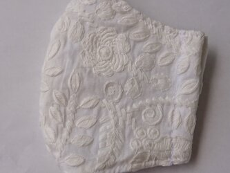 マスク 綿レース大人用Lサイズ 大花の画像