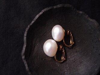 大粒バロックパールのイヤリング14.5mm/Baroque pearl・largeの画像