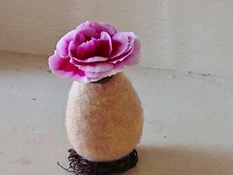 母の日のフラワーエッグ/桃色の画像