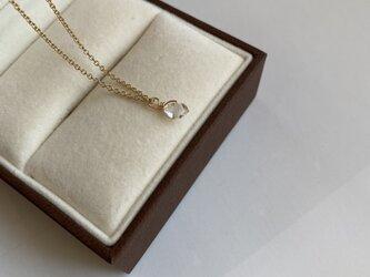 14KGF NYherkimer diamonds一粒ネックレス45cmの画像