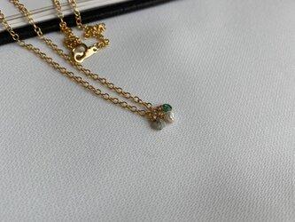 14KGF delicate gem necklacesの画像