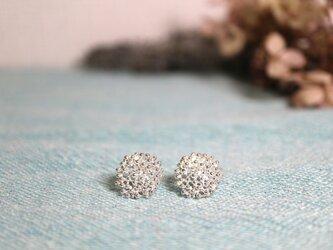 Silver earring 「Star grain」の画像