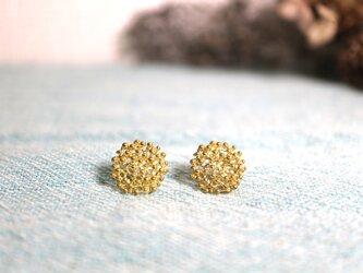 Brass earring 「Star grain」の画像