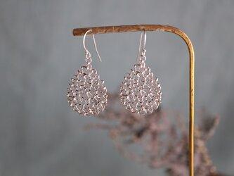 Silver earring 「Morning tears」の画像
