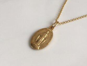 フランス奇跡のメダイのネックレス - gold chain #2の画像