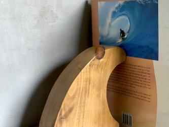 数量限定 ブックエンド 木製 ウッド サイン FIN オブジェ サーフボード フィン 木製文字 SURF サインレターの画像