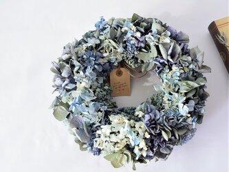 ブルーのリース・紫陽花の詩 の画像