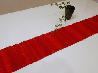 裂織    敷物 ランナー 紅絹   ☆送料無料【090】の画像