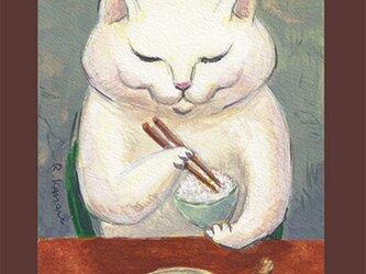 カマノレイコ オリジナル猫ポストカード「たまごとうめぼし」2枚セットの画像