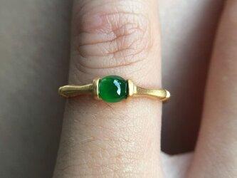 [YC:11438748]★受注制作★ 06 k18 翡翠 ヒスイリング 指輪 受注制作の画像