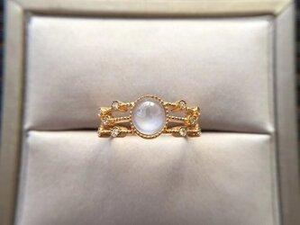 [YC:11437386]★受注制作★ NO.15 k18 翡翠 ヒスイ リング ダイヤモンド 指輪 受注制作の画像