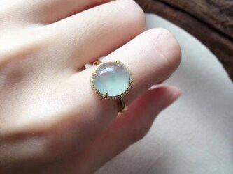 [YC:10159860]★受注制作★ 140 k18 翡翠 ヒスイ高級なリング 贅沢指輪 受注制作の画像
