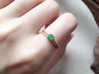 [YC:10159832]★受注制作★ 141 k18 翡翠 ヒスイ高級なリング 贅沢指輪 受注制作 ゴールドリング ダイヤモンの画像