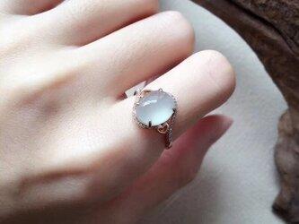 [YC:10059877]★受注制作★ 143 k18 翡翠 ヒスイ高級なリング 贅沢指輪 受注制作 ピンクゴールドリング ダイの画像