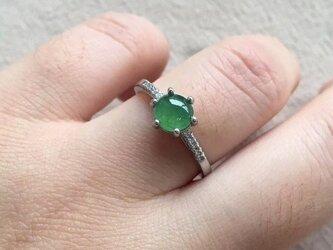 [YC:10023614]★受注制作★ 146 k18 翡翠 ヒスイ高級なリング 贅沢指輪 受注制作 ゴールドリング ダイヤモンの画像