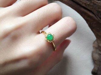 [YC:9969535]★受注制作★ 152 k18 翡翠 ヒスイ高級なリング 贅沢指輪  ゴールドリング ダイヤモンドリングの画像
