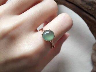 [YC:9944596]★受注制作★ 153 k18 翡翠 ヒスイ高級なリング 贅沢指輪  ピンクゴールドリング ダイヤモンドリの画像