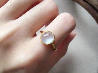 [YC:9943744]★受注制作★ 155 k18 翡翠 ヒスイ高級なリング 贅沢指輪  ピンクゴールドリング ダイヤモンドリの画像
