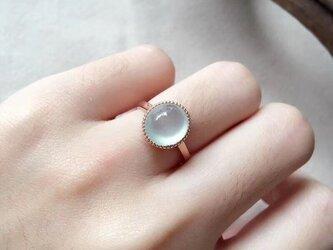 [YC:9942272]★受注制作★ 156 k18 翡翠 ヒスイ高級なリング 贅沢指輪  ピンクゴールドリング ダイヤモンドリの画像