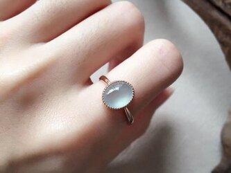 [YC:9940959]★受注制作★ 157 k18 翡翠 ヒスイ高級なリング 贅沢指輪  ピンクゴールドリング ダイヤモンドリの画像