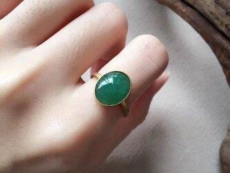 [YC:9876299]★受注制作★ 158 k18 翡翠 ヒスイ高級なリング 贅沢指輪  ピンクゴールドリング ダイヤモンドリの画像