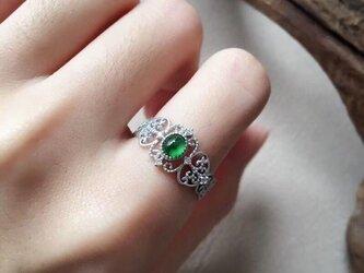 [YC:8984632]★受注制作★ 160 k18 翡翠 ヒスイ高級なリング 贅沢指輪  ピンクゴールドリング ダイヤモンドリの画像