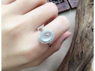 [YC:8984553]★受注制作★ 161 k18 翡翠 ヒスイ高級なリング 贅沢指輪  ピンクゴールドリング ダイヤモンドリの画像