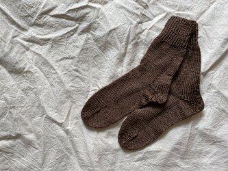 silk 手編みの靴下 blownの画像