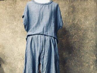 インド綿のセットアップ(ブルー)の画像