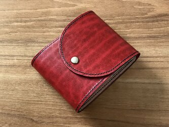 「革の宝石」ルガトーと栃木レザーを使った 使いやすい二つ折り財布の画像