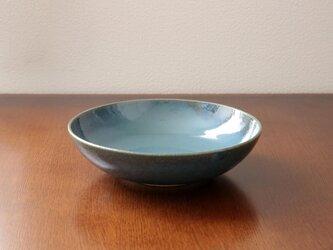 藍色乳濁釉の平鉢 * 1の画像