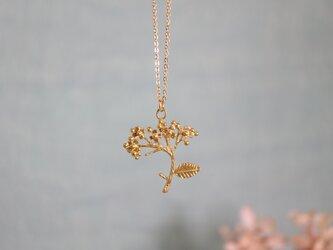 Brass necklace 「Rain」の画像