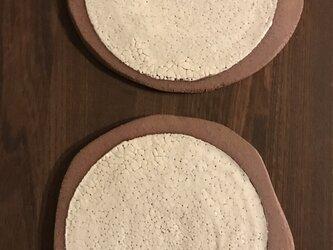 粉引きヒビ皿の画像