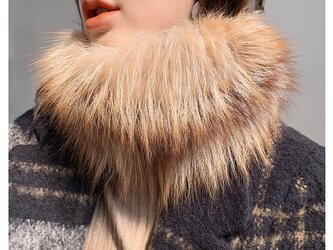 ¶ new antique fur ¶ クリスタルフォックスファーストレッチスヌードの画像