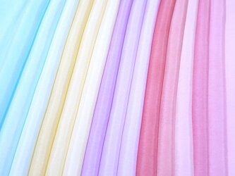 (L-1)正絹 胴裏 手染め羽二重15枚 はぎれセット つまみ細工用布の画像