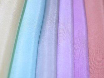 (L-2)正絹 胴裏 手染め羽二重6枚 はぎれセット つまみ細工用布の画像