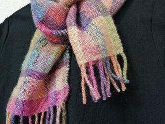 手紡ぎ手織りマフラー #5の画像
