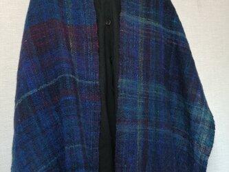 手紡ぎ手織りストール #1の画像