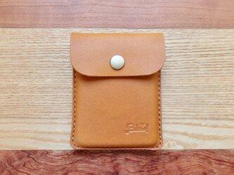 キャッシュレス時代に便利な本革Bokuno!カードケース キャメルの画像